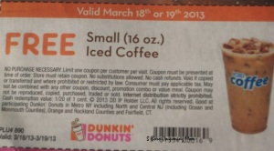 Free Iced Coffee