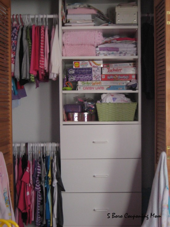 The craft kits, nail polishes and dry erase markers are kept in the closet..hopefully my little one won't get too curious and try to get them.